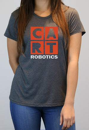 Women's short sleeve t-shirt - robotics red/grey