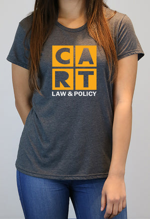 Women's short sleeve t-shirt - law and policy yellow/white