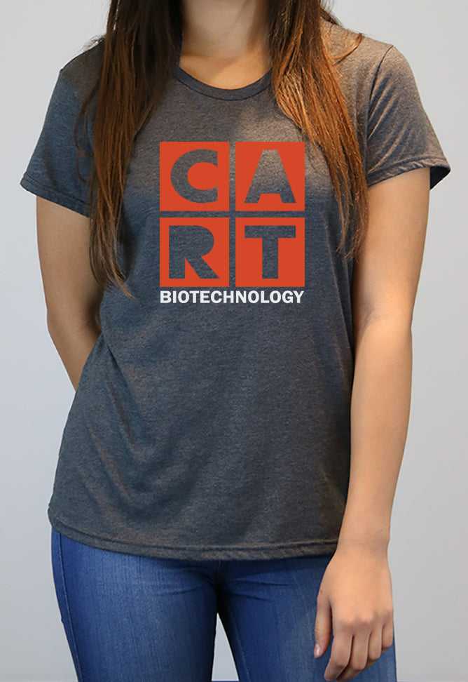 Women's short sleeve t-shirt - biotechnology grey/red logo