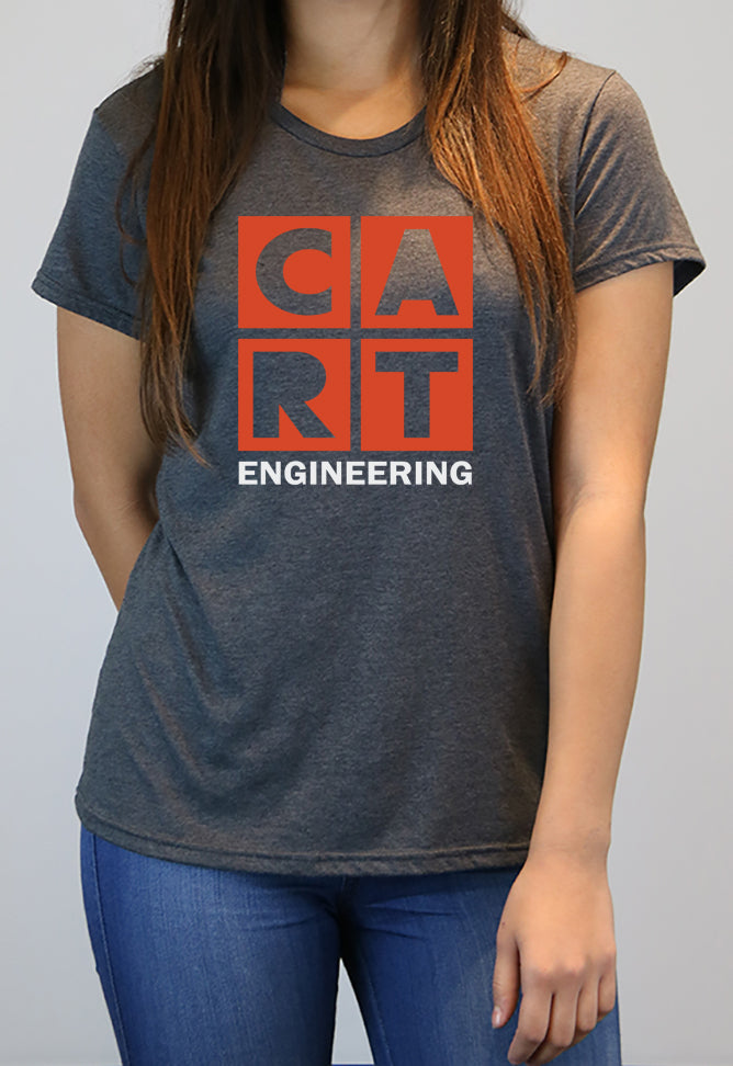 Women's short sleeve t-shirt - engineering grey/red