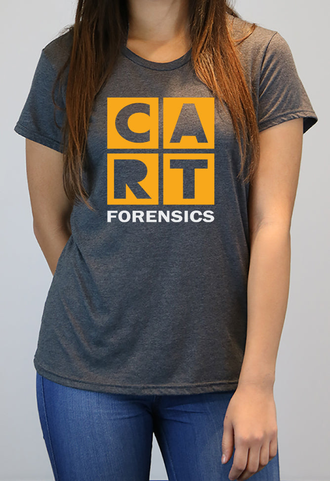 Women's short sleeve t-shirt - forensics yellow/white