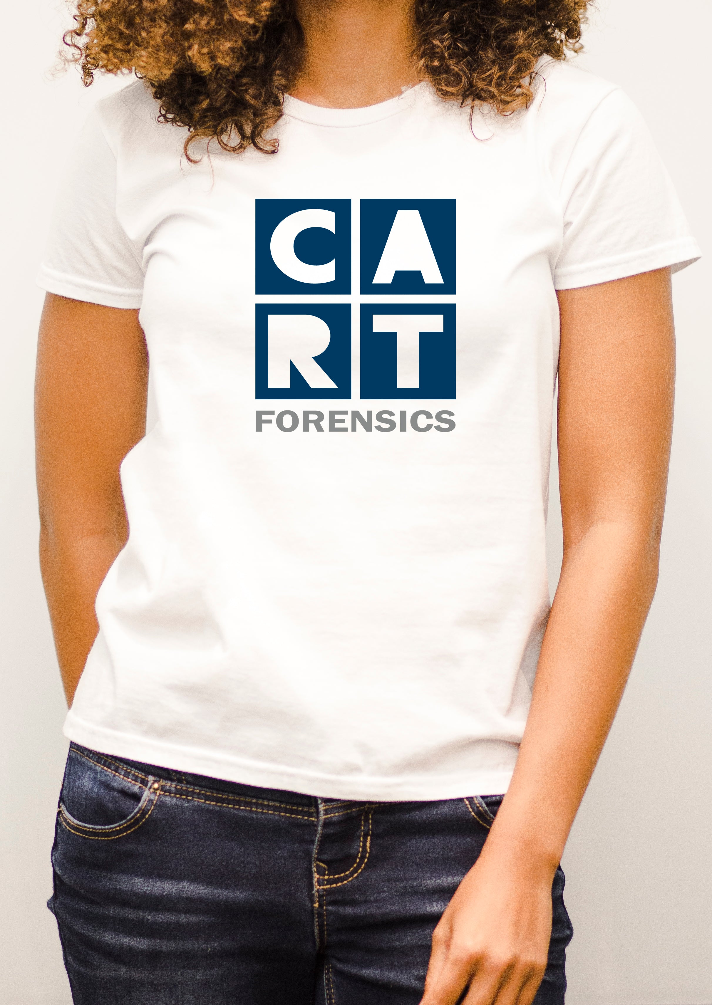 Women's short sleeve t-shirt - forensics blue/grey