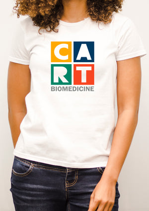 Women's short sleeve t-shirt - biomedicine grey/multicolor logo