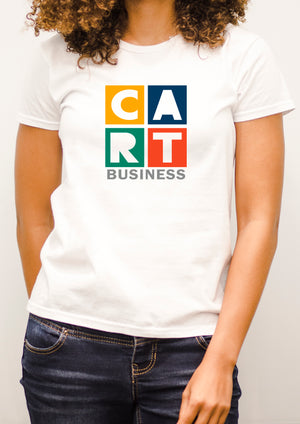 Women's short sleeve t-shirt - business grey/multicolor logo