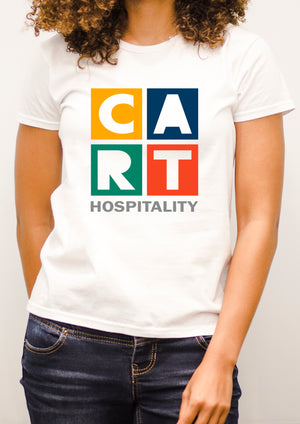 Women's short sleeve t-shirt - hospitality grey/multicolor logo