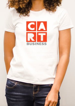 Women's short sleeve t-shirt - business grey/red logo