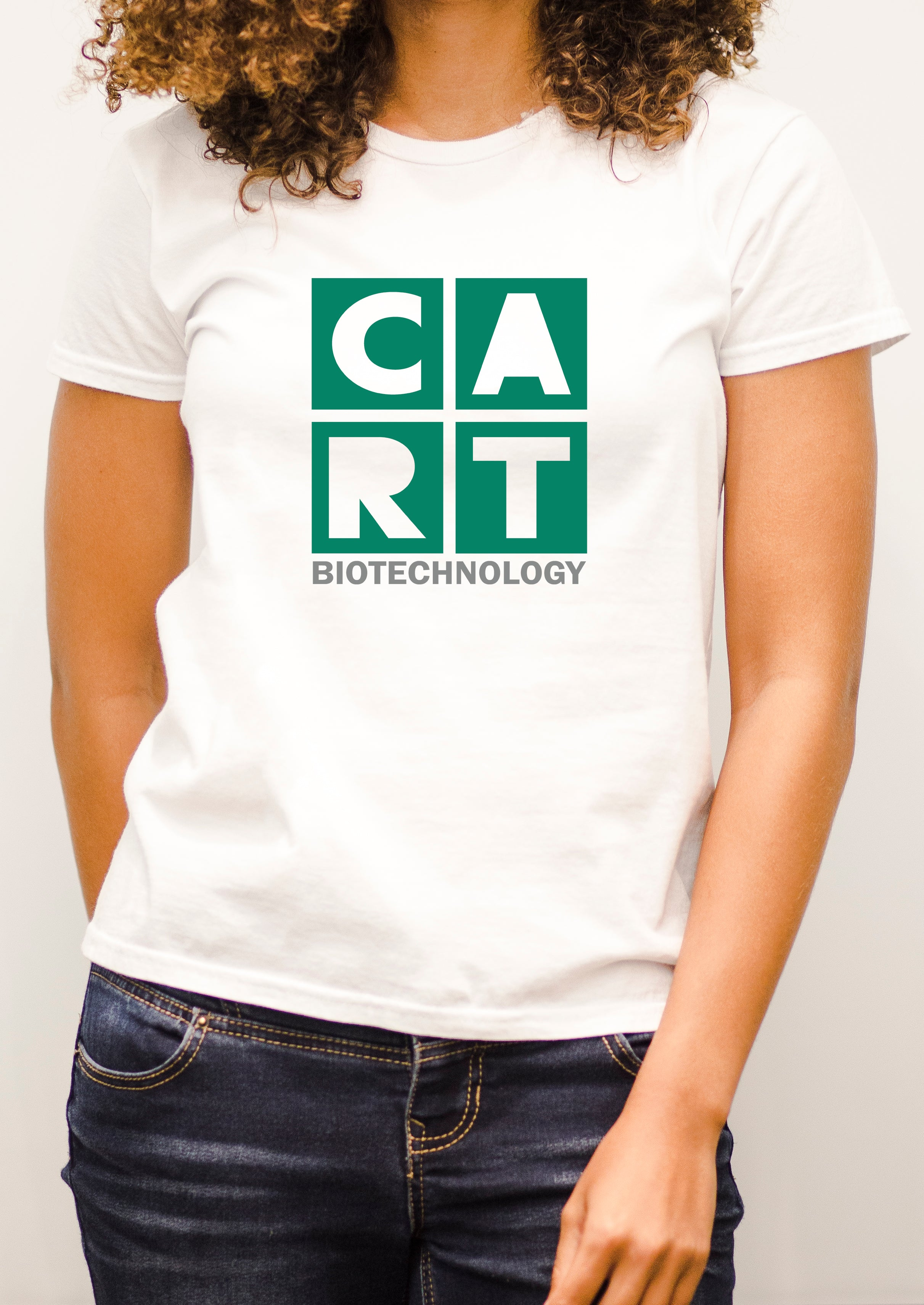 Women's short sleeve t-shirt - biotechnology grey/green logo