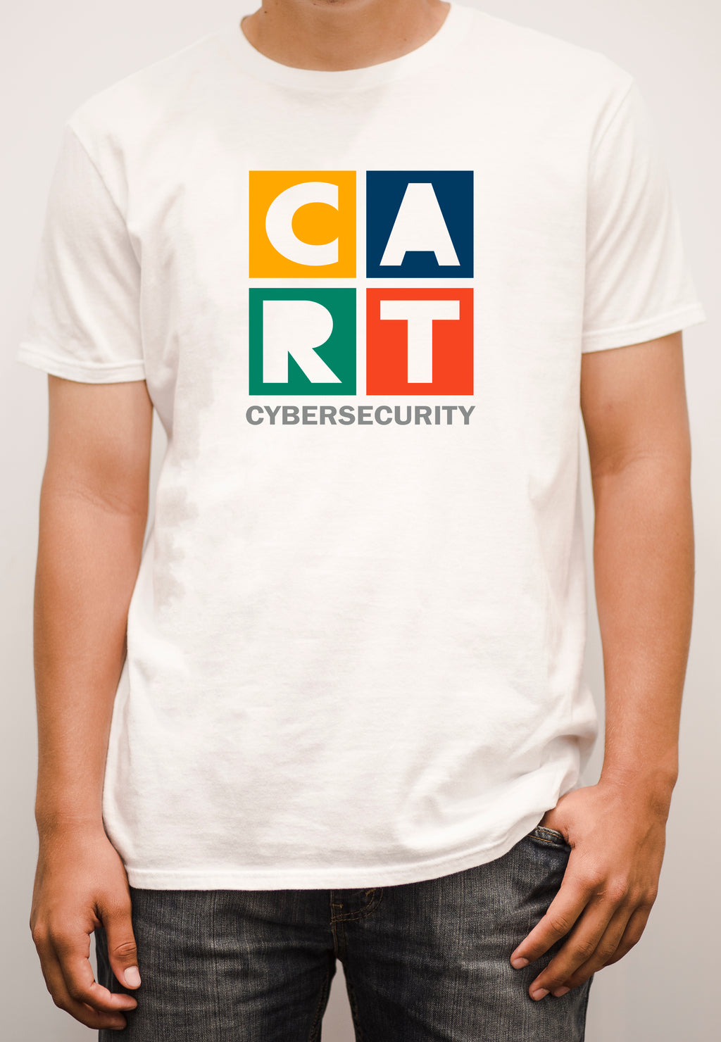 Short sleeve t-shirt - cybersecurity grey/multicolor logo