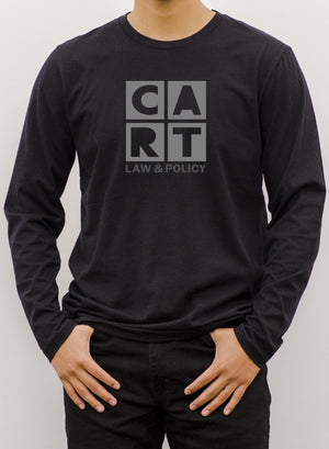 Long Sleeve T-Shirt (Unisex fit) - Law & Policy black/grey logo