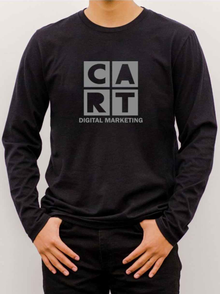 Long Sleeve Shirt - Black/Grey Logo - Digital Marketing (Unisex Fit)