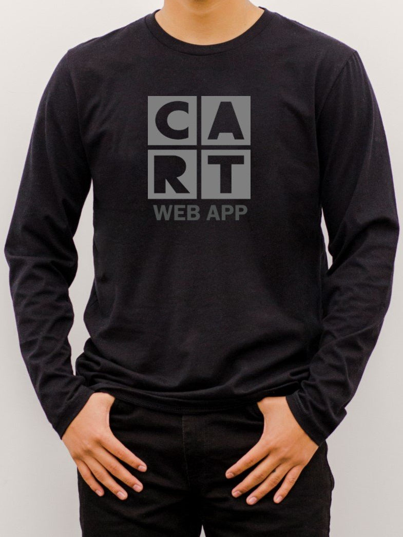 Long Sleeve T-Shirt (Unisex fit) - Web App black/grey logo