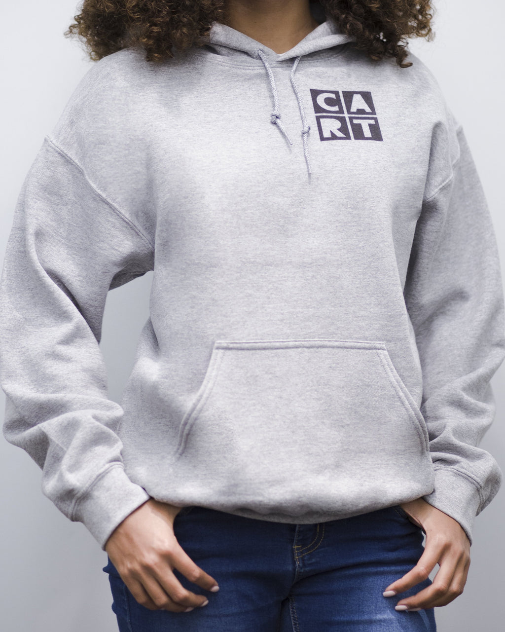 CART Hooded Sweatshirt - Chest Logo Black