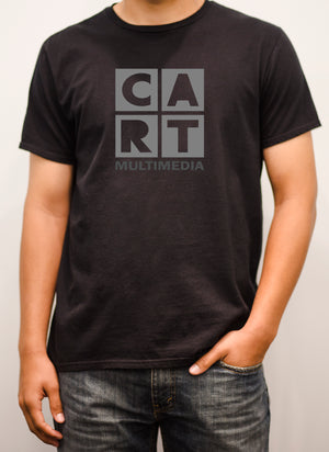 Short sleeve t-shirt (Unisex fit) - Multimedia black/grey logo