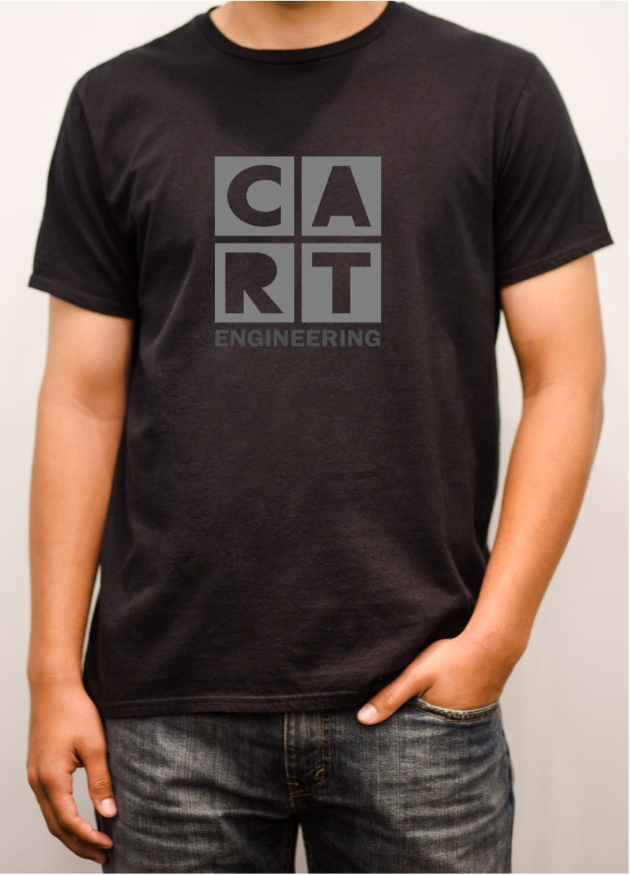 Short sleeve t-shirt (Unisex fit) - engineering black/grey logo