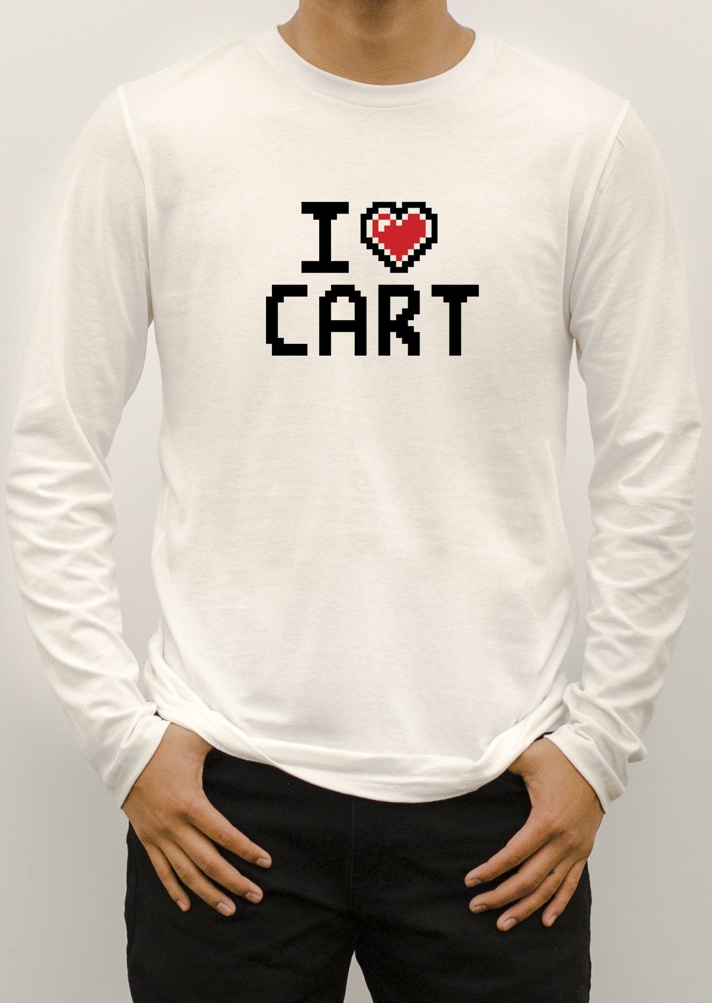 Pixel - I Love CART - Long Sleeve T-Shirt / Unisex Fit