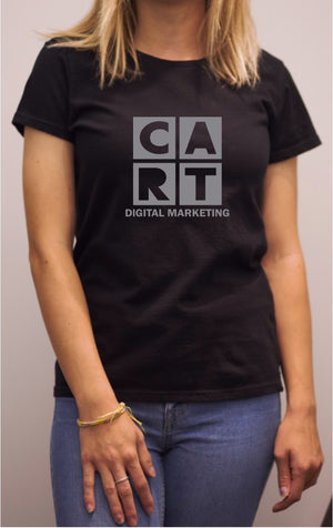 Women's short sleeve - Black Grey logo - Digital Marketing