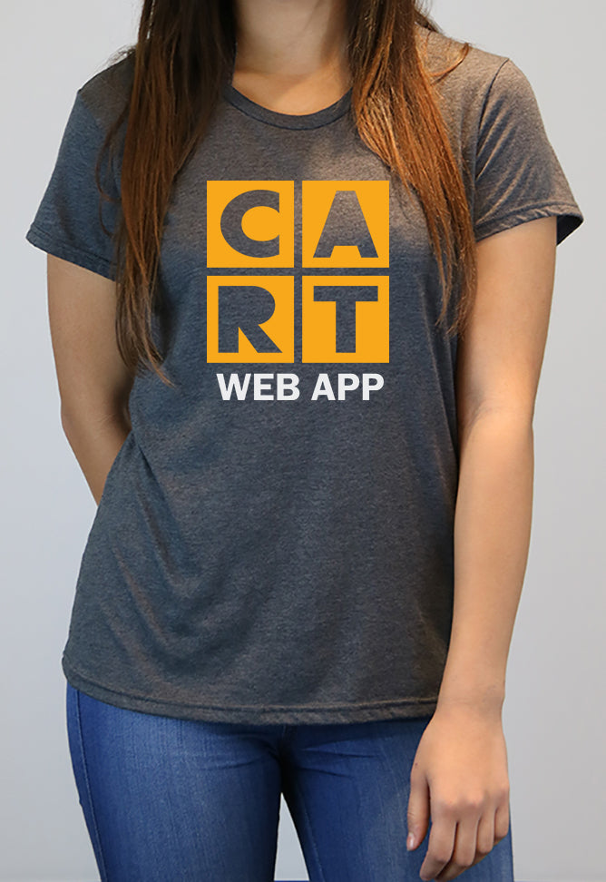 Women's short sleeve t-shirt - web application yellow/white