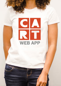 Women's short sleeve t-shirt - web application red/grey