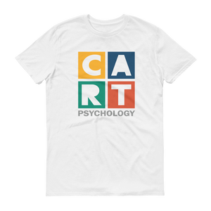 Short sleeve t-shirt - psychology grey/multicolor logo