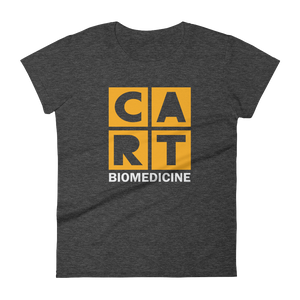 Women's short sleeve t-shirt -biomedicine grey/yellow logo