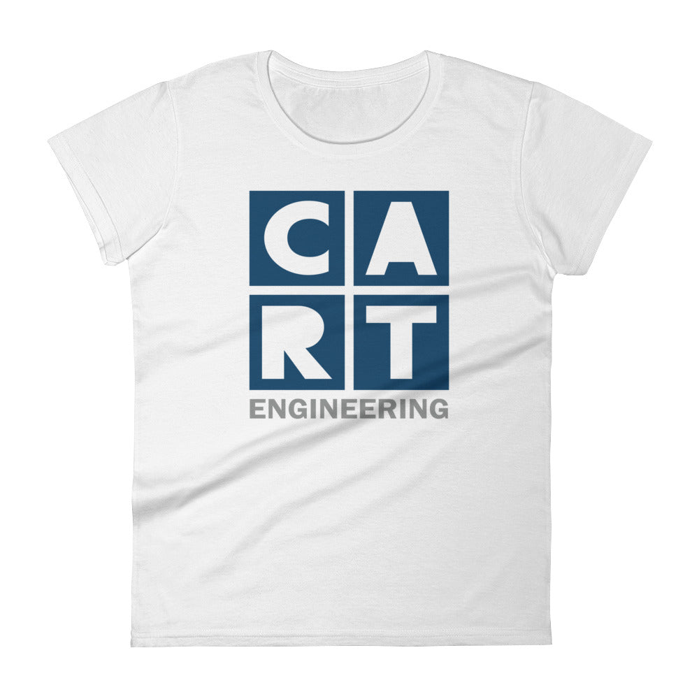 Women's short sleeve t-shirt - engineering grey/blue