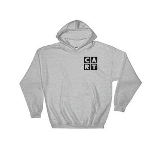 CART Hooded Sweatshirt - Grey Chest Logo Black / Unisex Fit