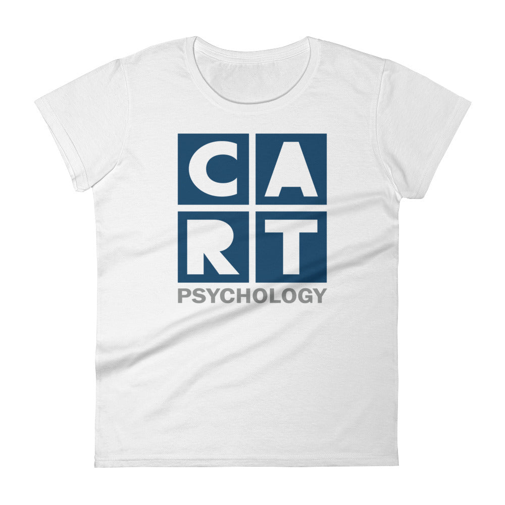 Women's short sleeve t-shirt - psychology grey/blue