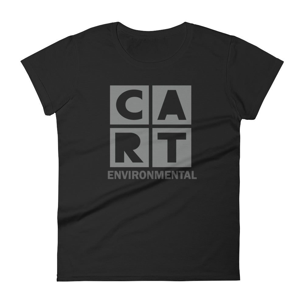 Women's short sleeve t-shirt - Environmental black/grey logo