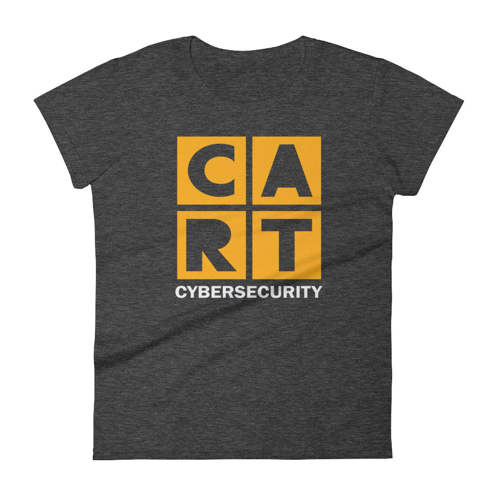 Women's short sleeve t-shirt - cybersecurity yellow/white