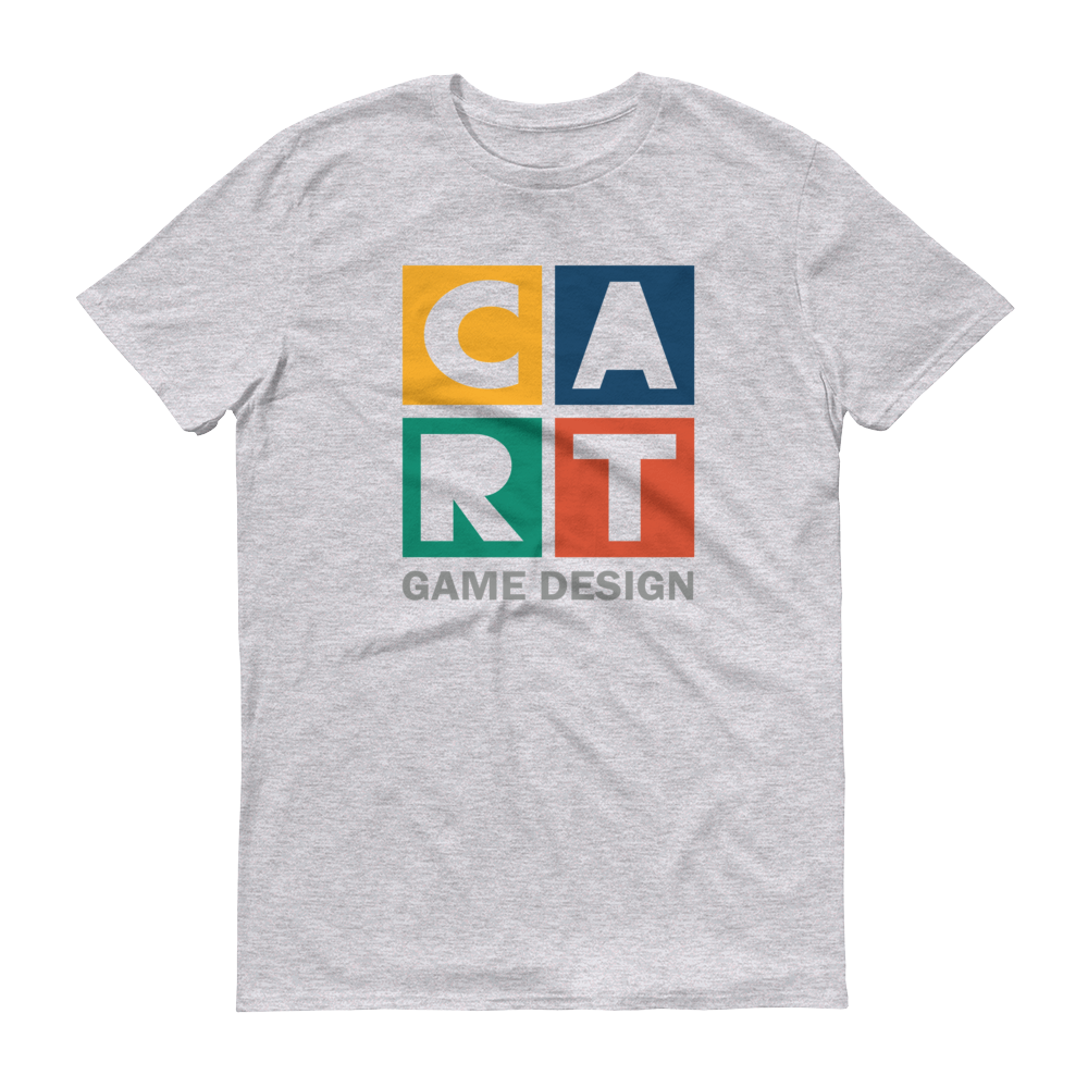 Short sleeve t-shirt - game design grey/multicolor logo