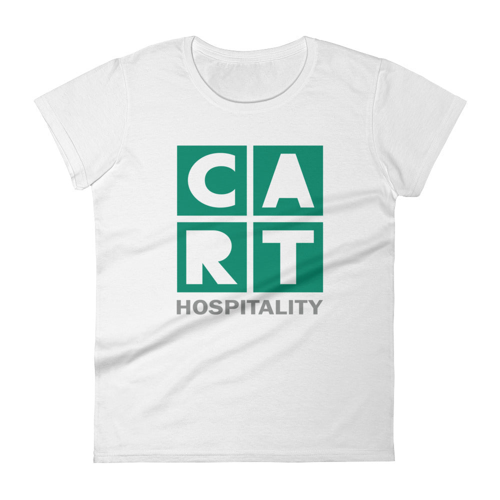 Women's short sleeve t-shirt - hospitality grey/green logo
