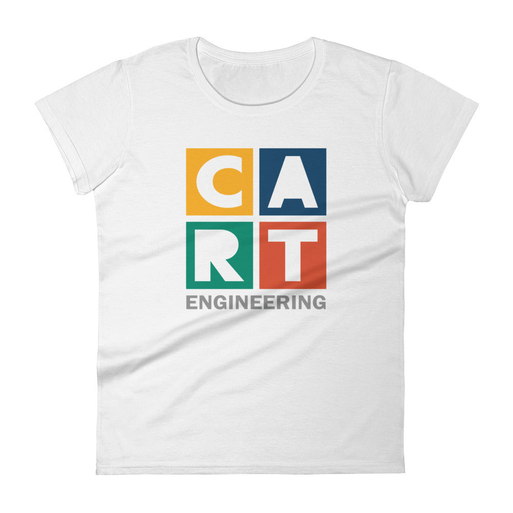 Women's short sleeve t-shirt - engineering grey/red logo