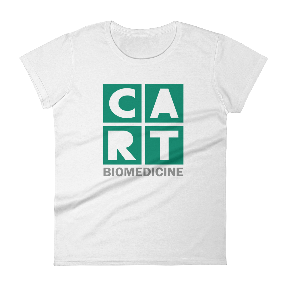 Women's short sleeve t-shirt - biomedicine grey/green logo
