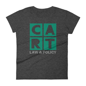Women's short sleeve t-shirt - law and policy green/grey