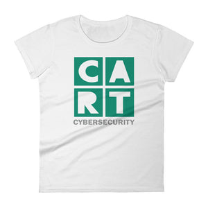 Women's short sleeve t-shirt - cybersecurity green/grey