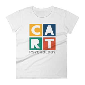 Women's short sleeve t-shirt - psychology grey/multicolor logo