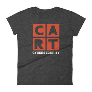 Women's short sleeve t-shirt - cybersecurity red/white