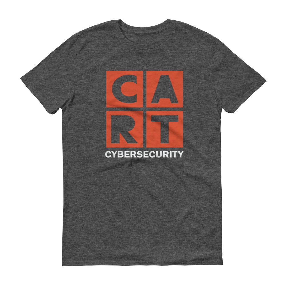 Short sleeve t-shirt - cybersecurity grey/red