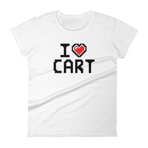 Women's - PIXEL I love CART short sleeve t-shirt