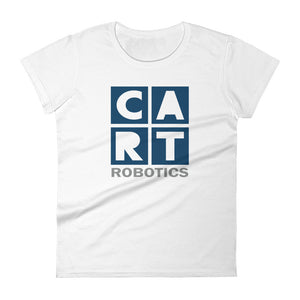 Women's short sleeve t-shirt - robotics white/blue