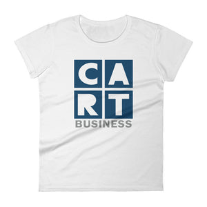 Women's short sleeve t-shirt - business grey/blue-colored logo