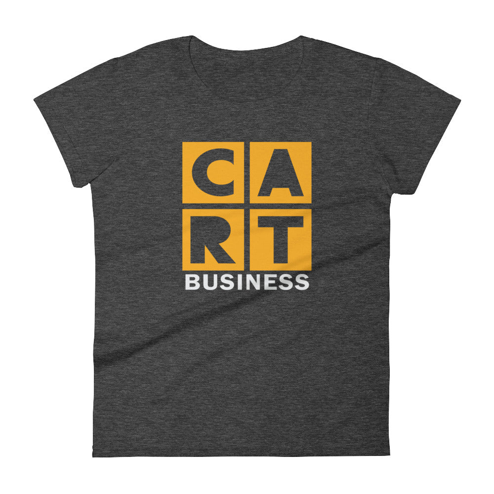 Women's short sleeve t-shirt - business grey/yellow logo