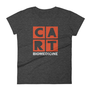 Women's short sleeve t-shirt - biomedicine grey/red logo