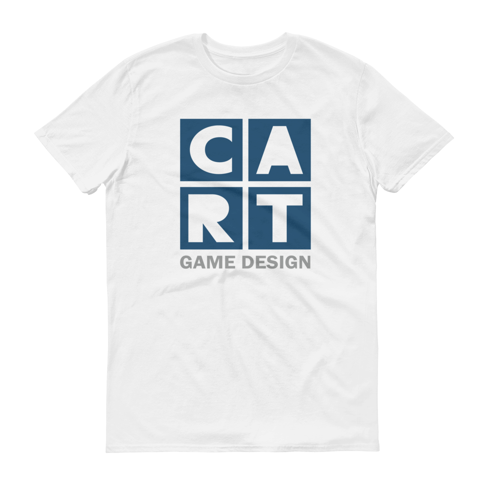 Short sleeve t-shirt - game design grey/blue