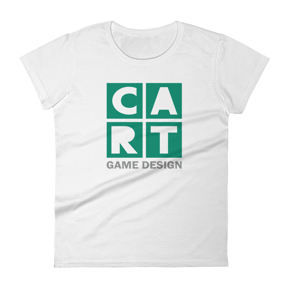 Women's short sleeve t-shirt - game design grey/green