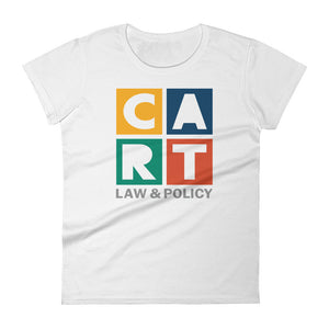 Women's short sleeve t-shirt - law and policy multicolor/grey