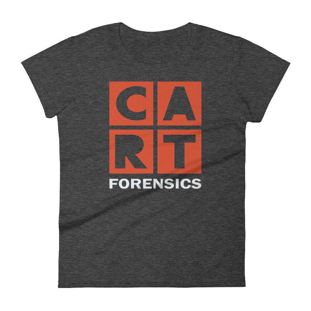 Women's short sleeve t-shirt - forensics red/white