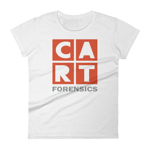 Women's short sleeve t-shirt - forensics red/grey