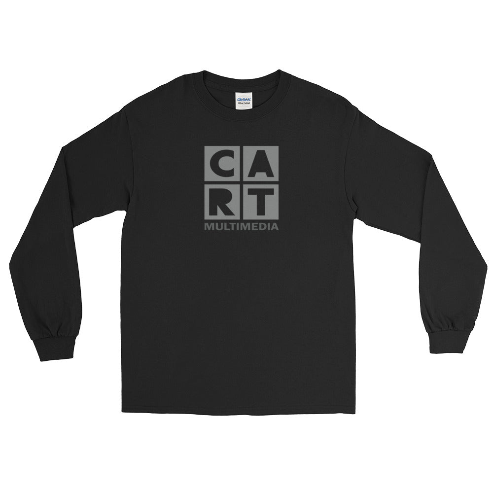 Long Sleeve T-Shirt (Unisex fit) - Multimedia black/grey logo
