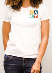 Women's short sleeve t-shirt - feminine fit color chest CART logo